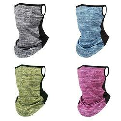 CW KQ Summer Outdoor Cycling Hanging Ear Scarf Face Cover Neck Gaiter Tube Sca $7.29