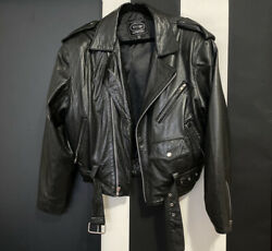 Vintage Leather Motorcycle Jacket Size Small Tannery West $99.00