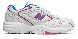New Balance Men#x27;s 452 Shoes White with Pink amp; Blue $37.20