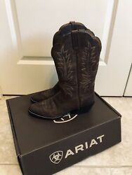 Ariat Heritage Western Boots Brown Women's Size 9 B 10001021 15725 $60.00