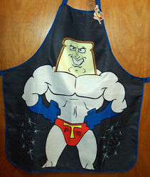 Nickelodeon Nick Box Ren amp; Stimpy Powdered Toast Man Apron NWT STAINED READ $7.99