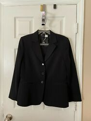 Womans Antonio Melani Black Skirt Suit Size 14 $44.50