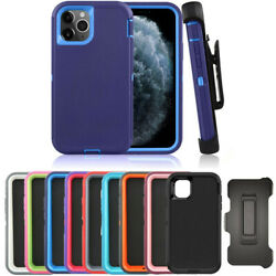 For iPhone 12 12 Mini Pro Max Case NEW Outer Defender Shockproof Cover w Clip $12.99