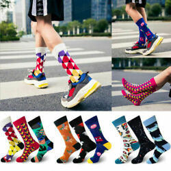 Fashion Men Women Socks Combed Cotton Cartoon Doodle Casual Happy Socks Funny C $3.50
