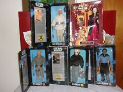 LOT 5 12quot; STAR WARS COLLECTOR FIGURES CANTINA SKYWALKER LANDO amp; QUEEN AMIADALA $39.99