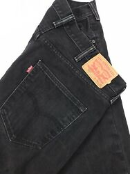 Levi#x27;s 501 Men#x27;s Straight Leg Black Jeans Sz 38x32 Measures 37x31 $17.99