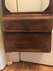 Fossil Brown Leather Crossbody $20.00