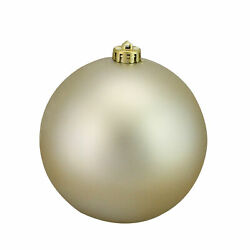 Champagne Gold Shatterproof Matte UV Resist Commercial Christmas Ball Ornament 6