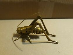 Vintage Brass Grasshopper Cricket Figure Figurine Art $13.99