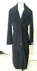 Calvin Klein womens Maxi Length Wool Refer With Wide Collar size 4 $119.99