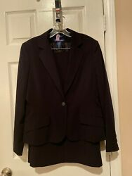 Womans Evan Picone Black Skirt Suit Size 14 $42.50