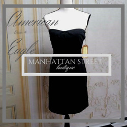 American Eagle NWOT Size 4 Womens Black Cocktail Dress Fully Lined 2045 $22.47