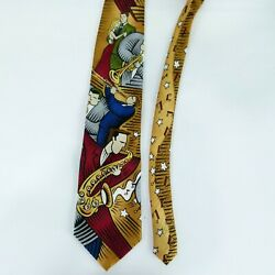 BURTON MORRIS Pop Movement Art Jazz Musicians Tie 100% Silk 56 x 4quot; $7.99