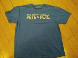 THE ADVENTURES OF PETE AND PETE BLUE SHIRT XL NICKELODEON $15.00
