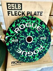 ROGUE Fleck Bumper Plates 25 lb PAIR Set of 2 *NEW* ✈️SHIPS PRIORITY 2 DAY✈️ $249.99