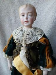 Very Nice Bisque Swivel Neck Head Reproduction Antique Doll 14 1 2quot; $67.95