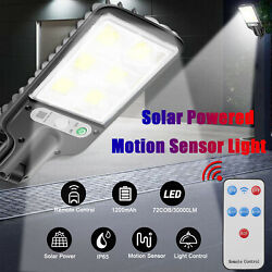 120000LM Commercial Solar Street Light Motion Sensor Dusk to DawnRemote Control