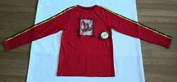 New THE FLASH Boys Novelty Long Sleeve Shirt Red Size XXL 18 $9.99