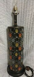 VNTG LAMP STAINED GLASS EARLY 1979#x27;S WOW ULTRA RARE BEAUTIFUL $129.95