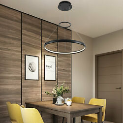 LED Ring Chandelier Fixtures Pendant Light Dining Room Hanging Lamp Warm White $89.61