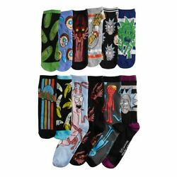 RICK AND MORTY 12 Days Of Socks Mens 6 12 NEW $28.95