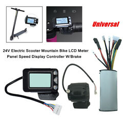 Electric Scooter Mountain Bike Meter Panel Speed Display Controller With Brake $50.99