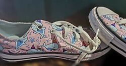 Converse All Star Kids pink Narwhal print sneaker girls sz 3 HARD TO FIND $50.00