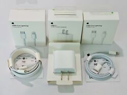 20W Charger USB C Power Adapter Cable iPhone 8 X 11 12 iPad Original Genuine Oem $21.89