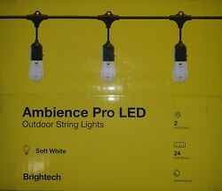 Brightech Ambience Pro LED Outdoor String Lights Soft White 24ft