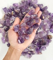 Raw Amethyst Crystal Chunks 1quot; to 2quot; Bulk Amethyst Stones from Brazil $12.95