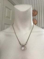 """Givenchy Vintage Costume Jewelry Necklace Rhinestone Gold Plated? 15"""" 18"""" $38.00"""