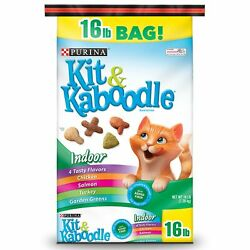 Purina Kit amp; Kaboodle Indoor Dry Cat Food Indoor 16 lb. Bag Original version $15.24