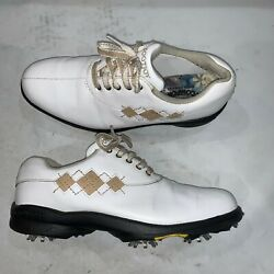 Footjoy Womens Ecomfort Golf White Shoes 98530 Ladies Size 6.5 M Lace Up $29.99