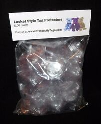 100 locket TY Beanie Baby Babies Heart Shaped Hang Tag Protectors Boos swing $17.48
