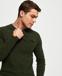 Superdry Mens Organic Cotton Vintage Embroidery Long Sleeve Top $18.75
