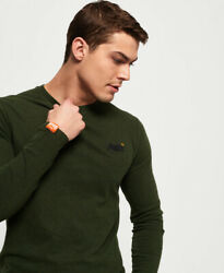Superdry Mens Organic Cotton Vintage Embroidery Long Sleeve Top $20.97