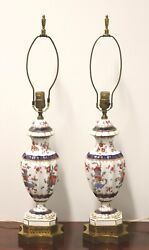 Antique French Limoges Table Lamps Pair $1295.00