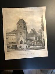 """Antique quot; In DRESDEN """" Germany Antique Engraving Signed in the plate 1846. $110.49"""