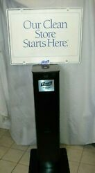 Hand Wipe Dispenser Floor Station Stand for Retail Business with sign $294.99