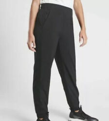 ATHLETA Brooklyn Jogger Lightweight Travel Pant Black Women Size 8 NWT