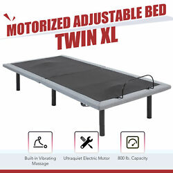 Electric Twin XL Bed Base with Remote Control Massage and USB Charging Ports $418.38
