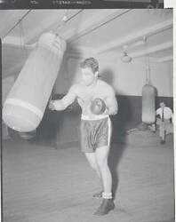 Boxing Champion Rocky Marciano Training With Boxing Bag 1951 OLD PHOTO AU $8.50