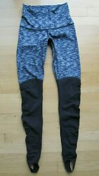 Lululemon Wunder Under Women#x27;s Size 4 Stirrup Leggings Pants Dramatic Static $39.99