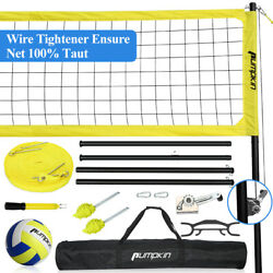 Outdoor Portable Volleyball Badminton Tennis Net Set System w Adjustable Poles $139.71