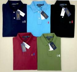 Polo Ralph Lauren Men#x27;s Pony Custom Slim Fit Mesh Polo Shirt Short Sleeve Shirt $44.95