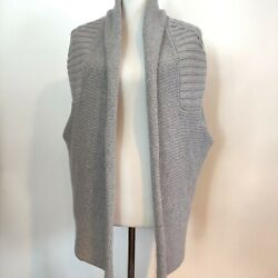 Angel Of The North Womens Gray Wool Blend Sleeveless Cardigan Sweater Size S M $24.87
