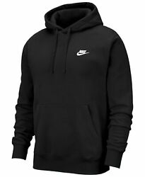 Nike Men#x27;s Sportswear Club Embroidered Swoosh Fleece Gym Active Pullover Hoodie $39.95