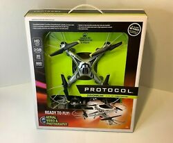 NIB Protocol Dronium 4 CH RC Video Drone HD Camera $64.99