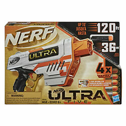 Nerf Ultra Five Blaster 4 Dart Internal Clip amp; Includes 4 Official Nerf Darts $19.88