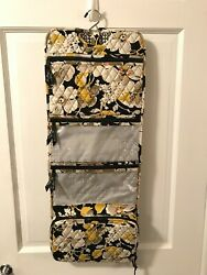 Vera Bradley Hanging Travel Organizer Dogwood White Yellow Black $16.95